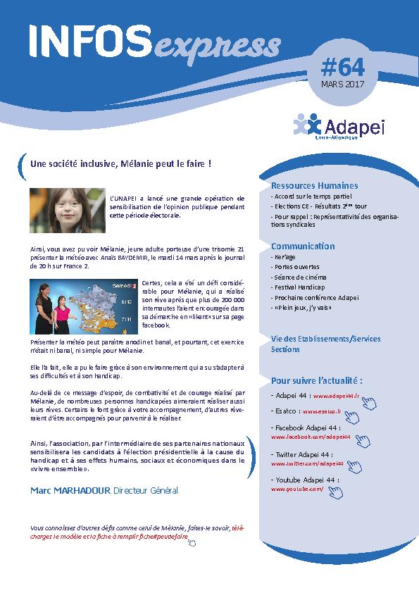 INFO EXPRESS ADAPEI 44
